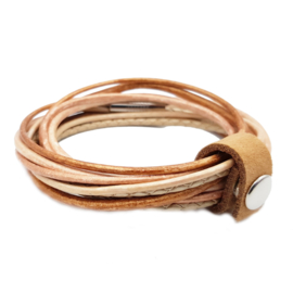 Leather Wrap Peach