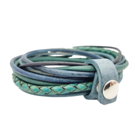 Leather Wrap Petrol