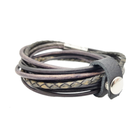 Leather Wrap Vintage Black