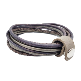 Leather Wrap Taupe