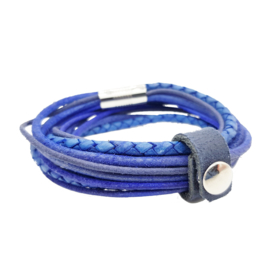 Leather Wrap Blue