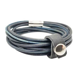 Leather Wrap Dark Blue