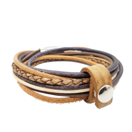 Leather Wrap Mix Brown