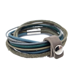 Leather Wrap Vintage Blue