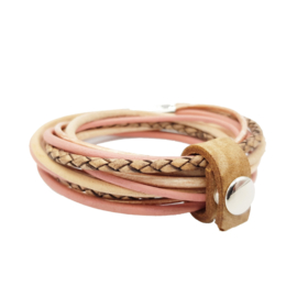 Leather Wrap Vintage Pink