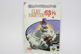 Clay Fighter 63 1/3 *Manual (EUR)
