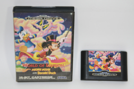 World of Illusion Starring Mickey Mouse and Donald Duck ( No Manual )