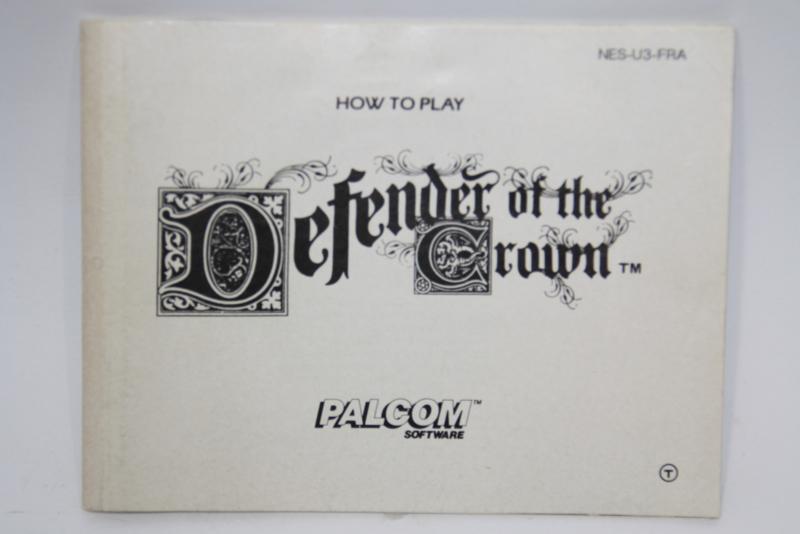Defender Of The Crown Manual (FRA)