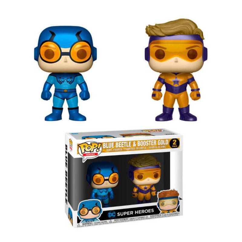 Super Heroes Pop! Vinyl: Blue Beetle & Booster Gold 2 Pack (NEW)