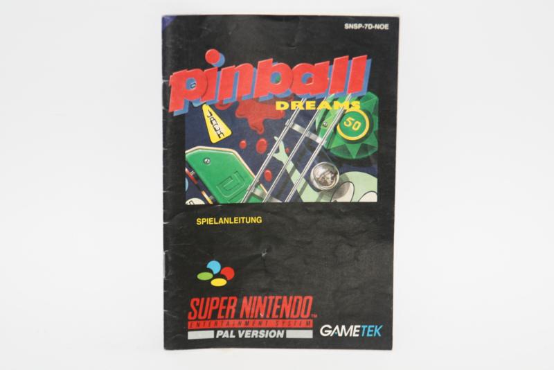 Pinball Dreams Manual (NOE)