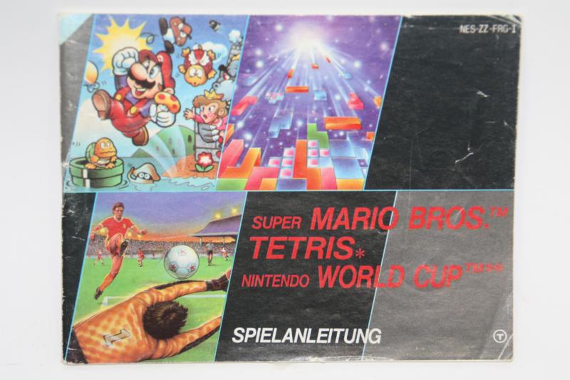 Mario Bros / Tetris / World Cup Manual (FRG)