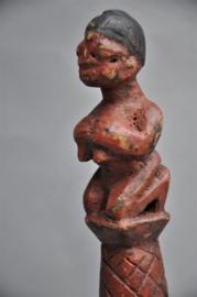 Oudere ceremoniële lepel van het ASHANTI volk, Ghana, 1960-70