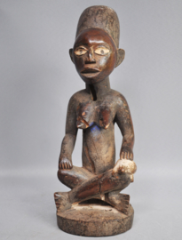 Old wooden PHEMBA statue of the YOMBE, DR Congo, 1960-70