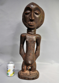 Huge, masculine SHANKADI statue, LUBA tribe, Congo, approx. 1970
