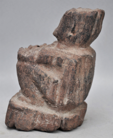 Stenen grafbeeld vd  rijstgod BULUL, Ifugao, Luzon, Filippijnen
