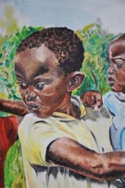 Olieverf schilderij op linnen, ANDRÉ CLAEYS, gesigneerd!