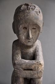 Museum stuk! Groot zittend BULUL beeld, 90 - 100 jaar oud!