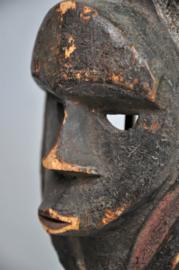 Ouder paspoortmasker van de EKET, Nigeria, 2e helft 20e eeuw