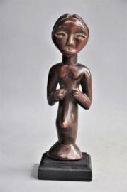 Houten vrouwelijke talisman van de TABWA, DR Congo, ca 1970