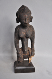 GREAT!! Ancient tribal altar statue, SENOUFO, Ivory Coast, 1900-1920