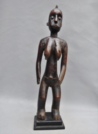 Zéér oud vrouwelijk NAKOMSE voorouderbeeld, MOSSI, Ghana, ca 1930