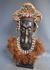 GREAT! Wonderful mask, LELE tribe, D.R. Congo, approx. 1960