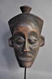 Facial CHOKWE mask, D.R. Congo, 2nd half 20th century