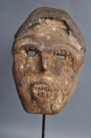 Oud sterk gelaatsmasker van de SUKU tribe, DR Congo, 1960-70