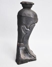 Large beetle nut container of processed bone, IFUGAO, 21st century