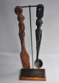 80-100 years old ritual spatula and spoon, IFUGAO, Luzon, Philippines