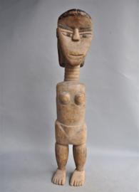 Grote oude vrouwelijke voorouderfiguur, VENAVI stam, TOGO, ca. 1960