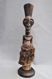 GREAT! Authentic, tribally used SONGYE statue, D.R. Congo, 1960-70