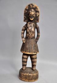 Rare and old initiation statue, CHOKWE tribe, Angola, 1950-60