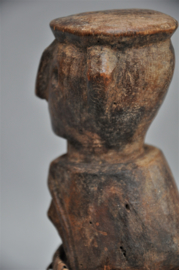 Zéér oud  intensief gebruikt beeldje van de AZANDE, DR Congo, 1920-40