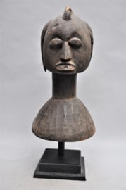 Extremely rare tribal FULANI head mask, YORUBA, Nigeria, 1900-1910