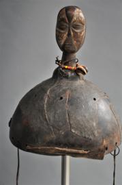 Zeldzaam en ouder masker van de GALOA stam, DR Congo, ca 1970