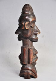 Janus statue from the YAKA, D.R. Congo, approx. 1970