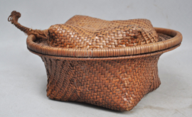 Beautiful woven basket for rice, IFUGAO, Philippines, 2nd half of the 20th century
