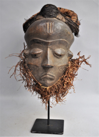 Older facial PENDE mask, D.R. Congo, approx. 1970