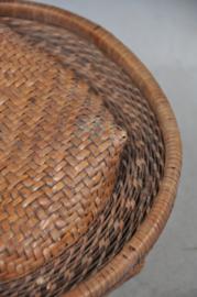 Prachtig gevlochten mandje voor rijst, IFUGAO, Filippijnen, 2e helft 20e eeuw
