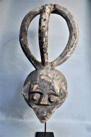 Impressive large mask with water spirit, IJO, Nigeria, ca 1970