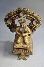 TOP! Oud 2 delig bronzen altaarbeeld, India, ca. 1950