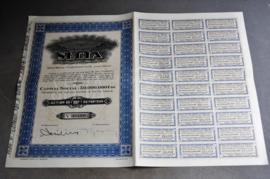 Aandeel uit de Congo, SECLA, Coquilhatville, Congo, 1927 ( code 3)