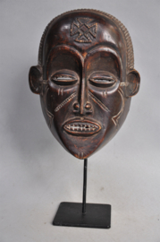 Beautiful sculpted CHOKWE facial mask, Angola, 2nd half 20th century