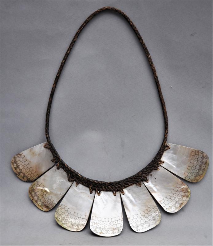 Tribale halsketting, priesterboord, PALANPAGANG, Ifugao, Filipijnen