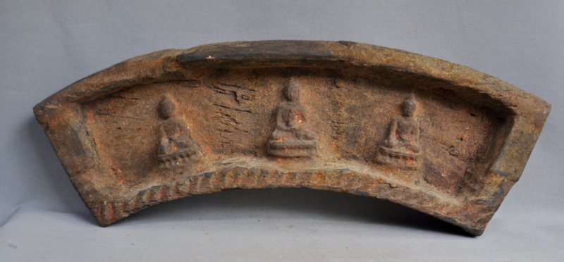 Heavy hardwood home altar with 3 statues,Nepal, 2nd half 20th century