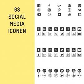 63 SOCIAL MEDIA ICONEN