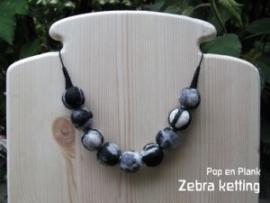zebra ketting
