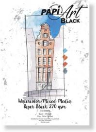 Papier Zwart Brush lettering / Handlettering - 150x210 mm - 270 grs - 15 vel