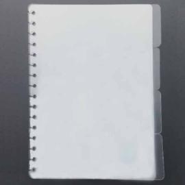 Tabbladen A5 half transparent  - 4 stuks